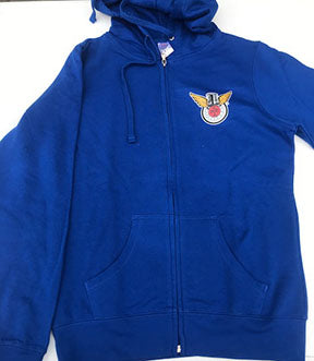 Hoodie: Blue -Ladies Cut