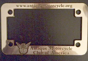 License Plate Frame: Motorcycle