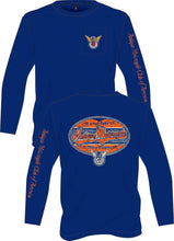 Load image into Gallery viewer, Pocket Tee Long Sleeve: Navy with Front, Back and Sleeve Art