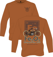 Load image into Gallery viewer, Long Sleeve Tee: Respect The Rust