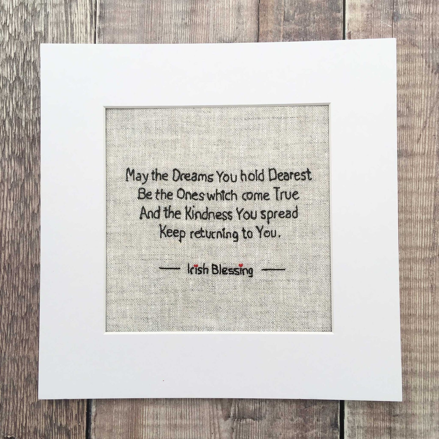 dreams irish blessing on irish linen print