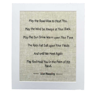 May the road rise to meet you famous irish blessing print