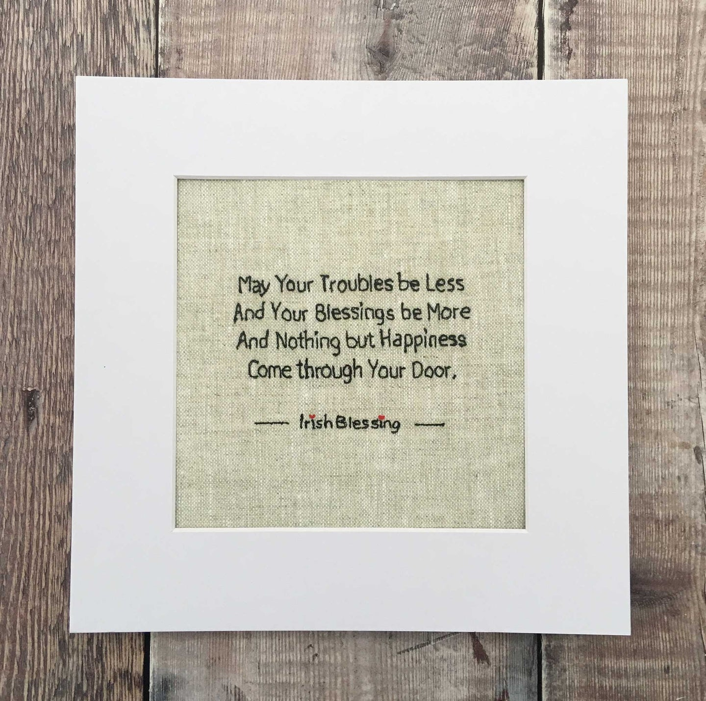 May Your Troubles Be Less .. Irish Blessing Print