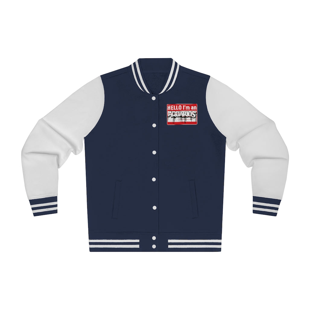 Hello Aquarius Varsity Jacket