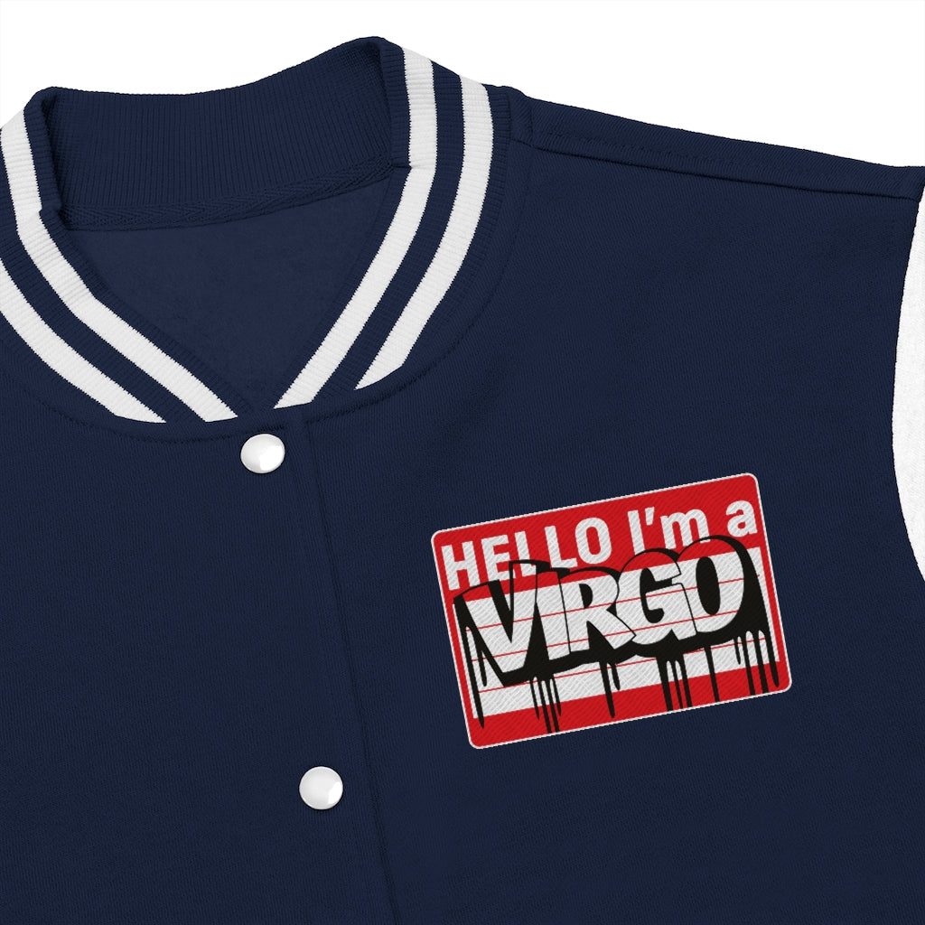 Hello Virgo Varsity Jacket