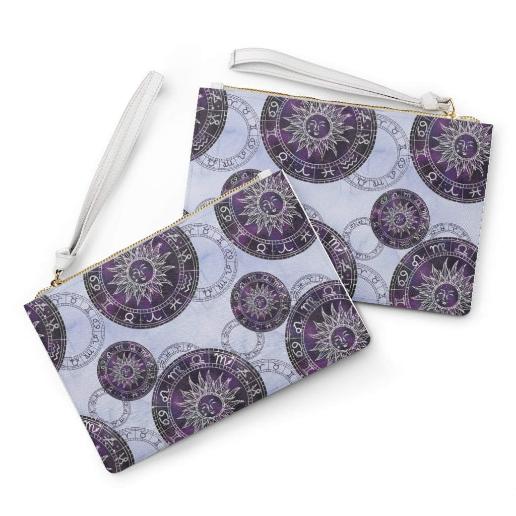 Zodiac Wheel Clutch Bag