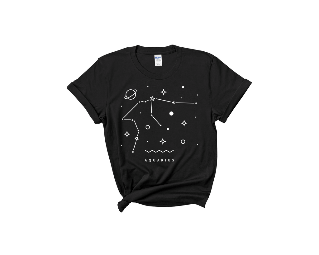 Aquarius Constellation Tee