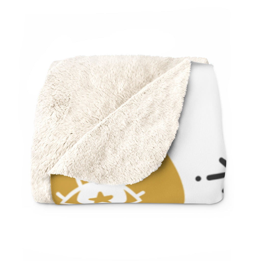 Wide Eye Sherpa Fleece Blanket