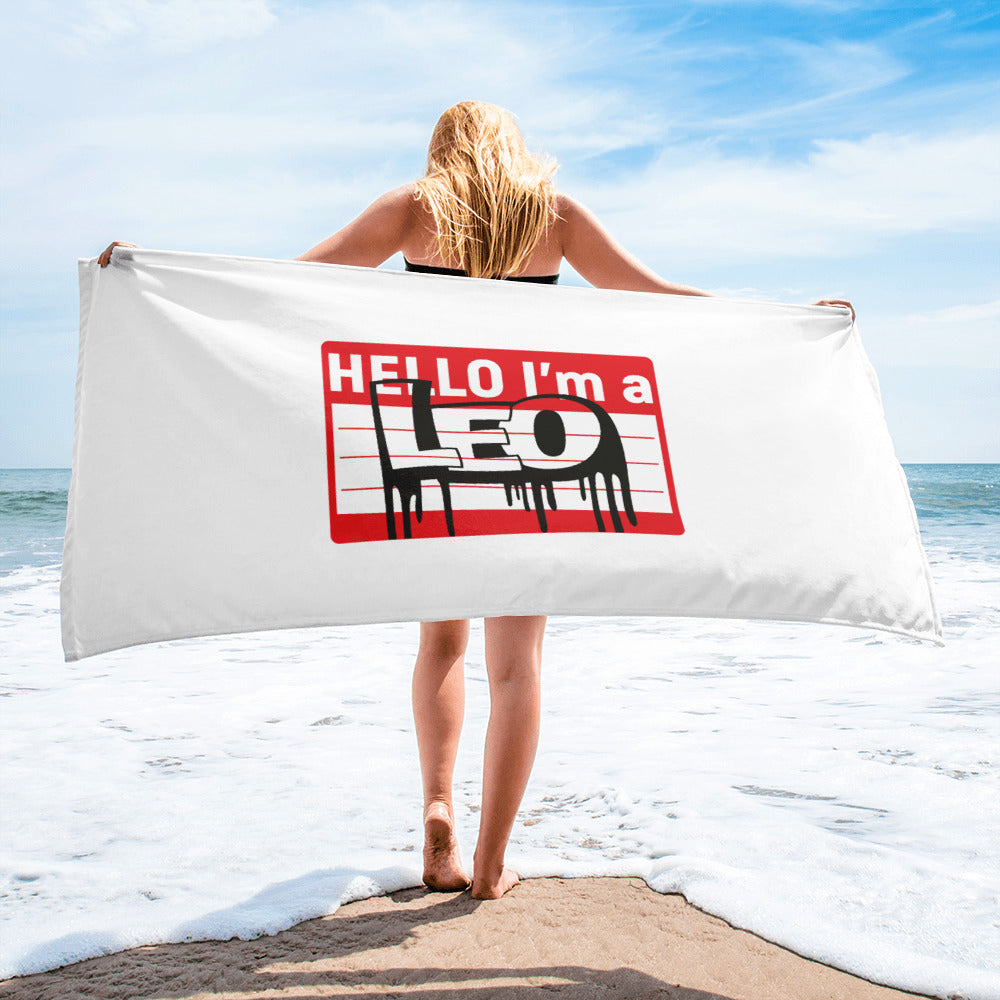 Leo Beach Towel