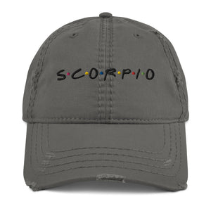 Scorpio Friends Distressed Dad Hat