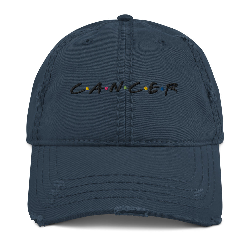 Cancer Friends Distressed Dad Hat