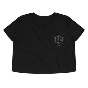 Libra Embroidered Crop Tee
