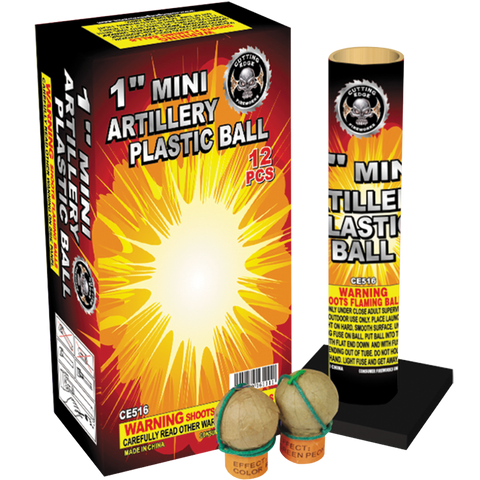 "1"" Mini Artillery Plastic Ball 12PK Case"