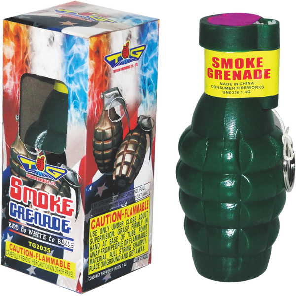 3 Color Changing Smoke Grenade Case