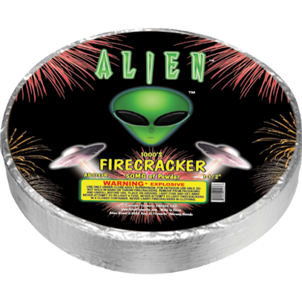 Alien Premium Firecracker Roll 1000's Case