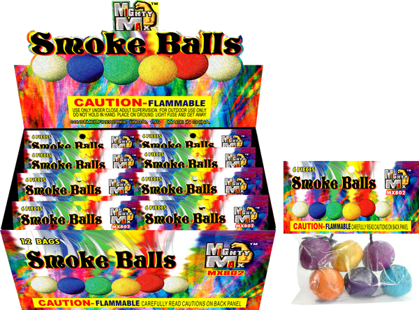 Color Smoke Balls Box 20/12/6