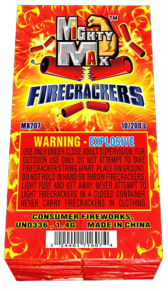 Mighty Max Firecrackers 200's