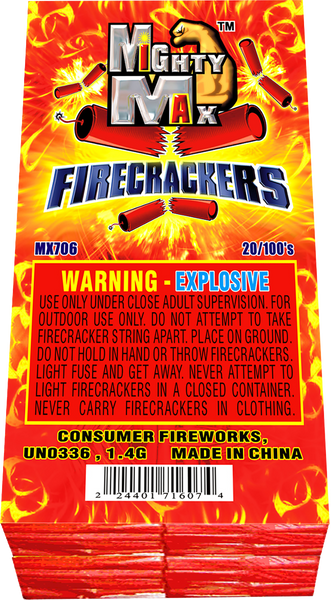 Mighty Max Firecrackers 20/100