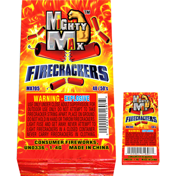 Mighty Max Firecrackers 50's 8/4