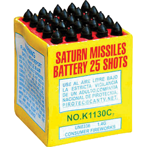 Saturn Missile 25 Shot Case