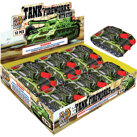 Tank Fireworks With Star Case