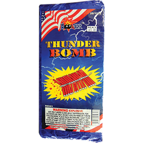 Thunder Bomb Brick of Firecrackers (80 Packs of 16) Case
