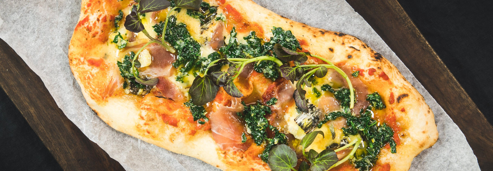 James Goldings' Coppa and Salsa Verde Flatbread