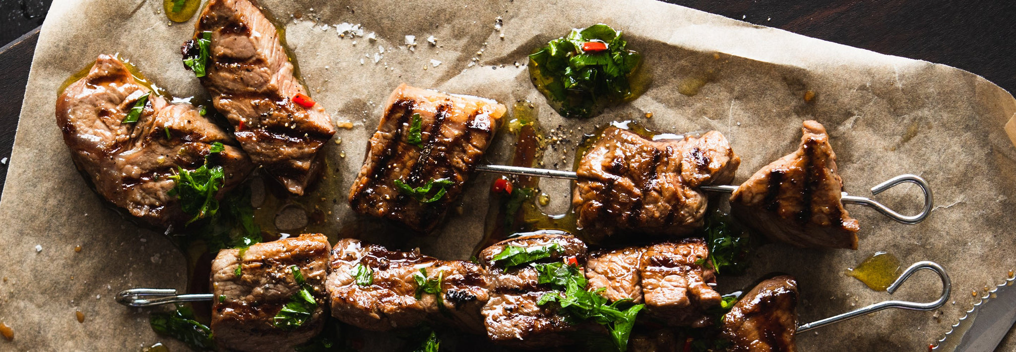 Rump Beef Skewers with Chimichurri