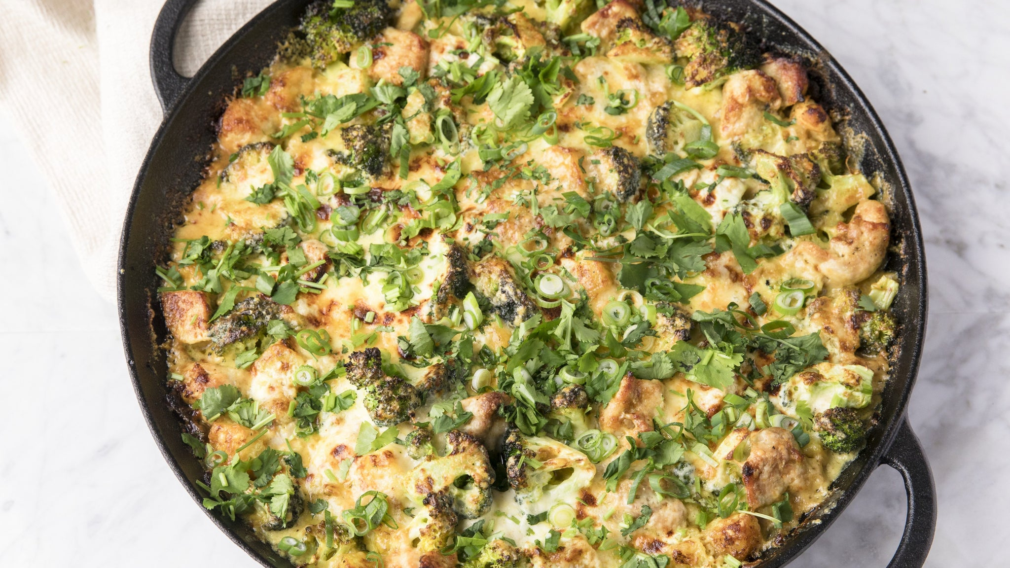 Broccoli, Chicken, Cheddar and Curry Casserole