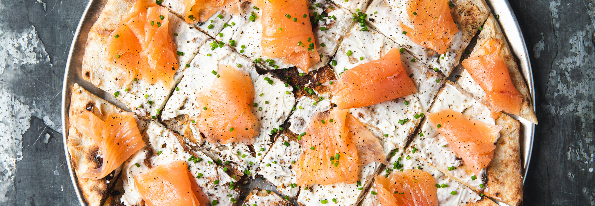 Smoked Salmon & Cream Cheese Thin & Crispy Pizza