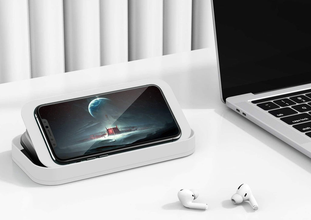 Portable Cell Phone Stand that's adjustable Angle Height Holder Dock for Desk Bed Watching movies videos