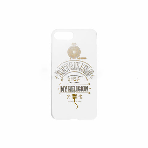 Cover Iphone 7/8 scritta Detailing My Religion con Lucidatrice