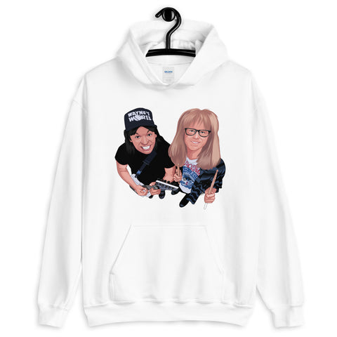 Waynes World Men and Women Unisex Hoodie - 90zTrip
