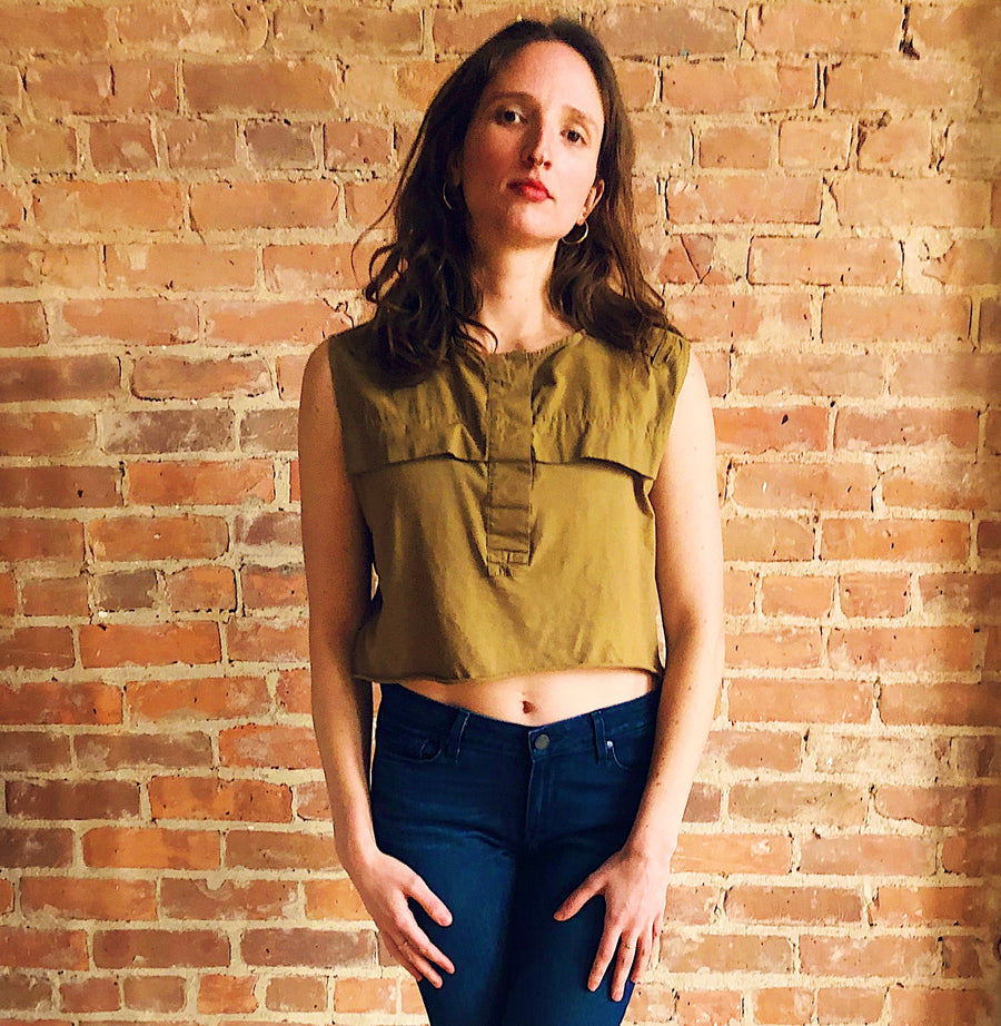 Military style cropped top