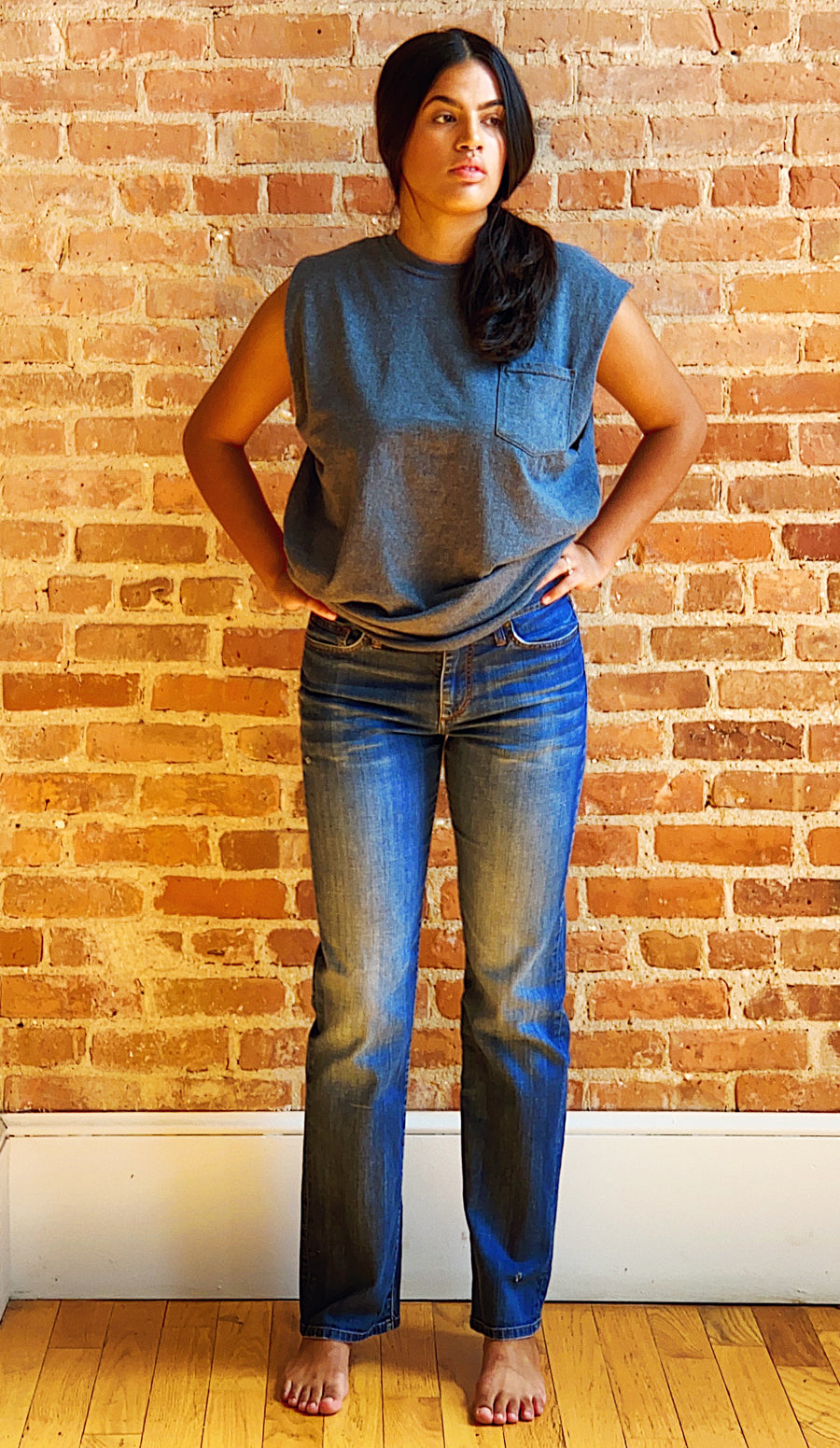 vintage distressed Joe's jeans Classic straight leg