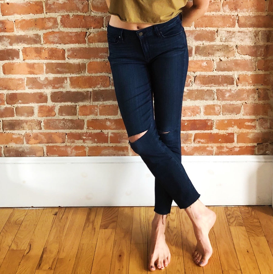 re-worked Paige jeans