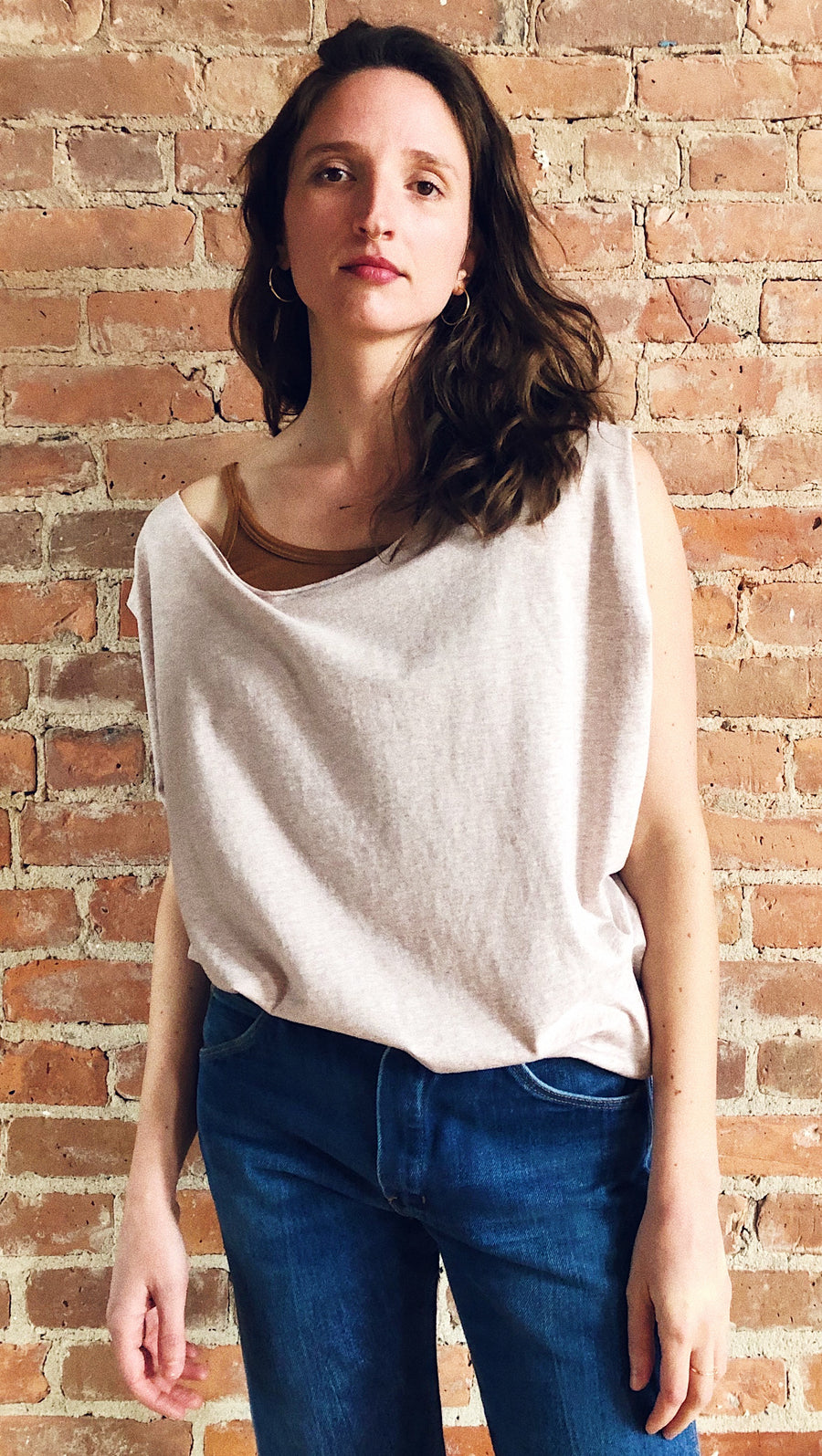 oatmeal drapey pullover