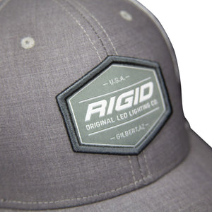Custom Trucker Hat Grey/White RIGID Industries RIGID Industries