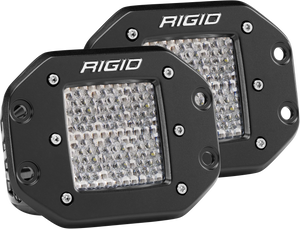 Diffused Flush Mount Pair D-Series Pro RIGID Industries
