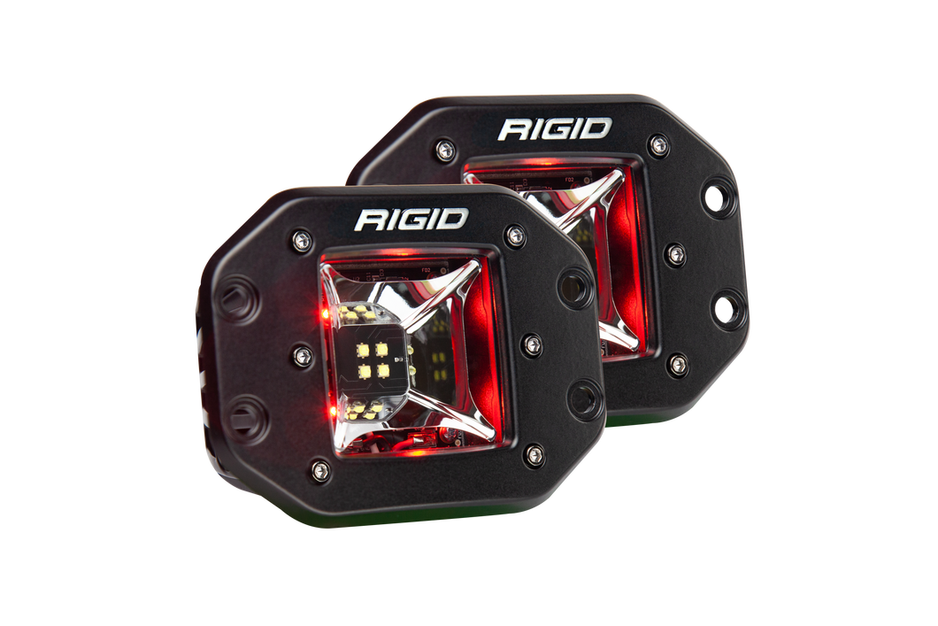 Scene Red Backlight Flush Mount Pair Radiance RIGID Industries