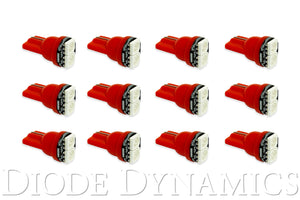 194 LED Bulb SMD2 LED Red Set of 12 Diode Dynamics