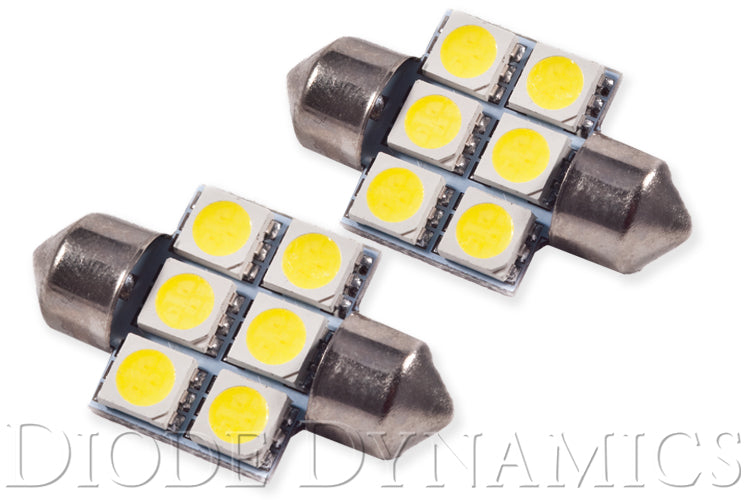 31mm SMF6 LED Bulb Green Pair Diode Dynamics