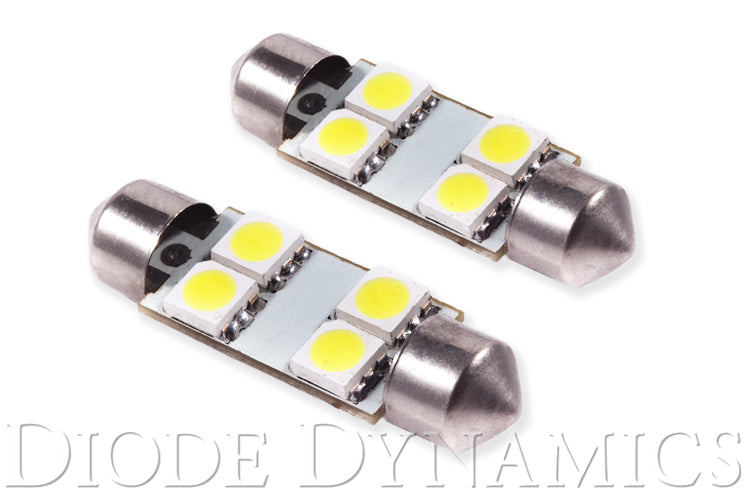 39mm SMF4 LED Bulb Green Pair Diode Dynamics