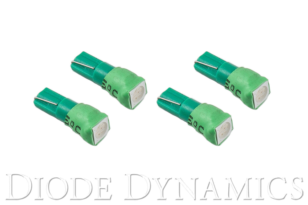 74 SMD1 LED Green Set of 4 Diode Dynamics