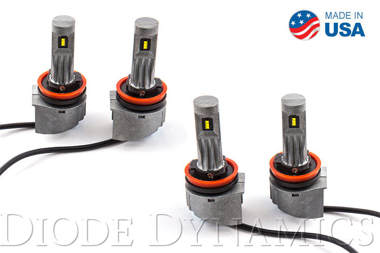 H11 SLF LED Yellow Set of 4 Diode Dynamics
