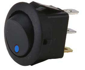 LED Toggle Switch Blue Diode Dynamics