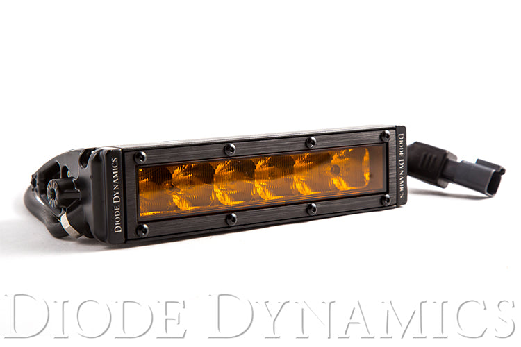 6 Inch LED Light Bar Single Row Straight SS6 Amber Driving Light Bar Single Diode Dynamics