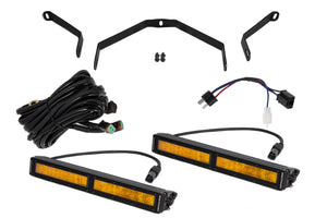 Tundra 12 Inch LED Driving Light Kit Amber Wide Diode Dynamics
