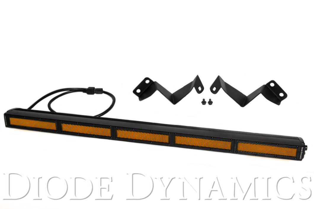 Tacoma 30 Inch LED Light Bar Kit 16-19 Tacoma Stealth Amber Flood Diode Dynamics