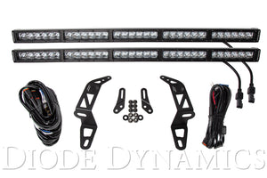Jeep 2018 SS30 Bumper LED Kit White Driving Dual Diode Dynamics